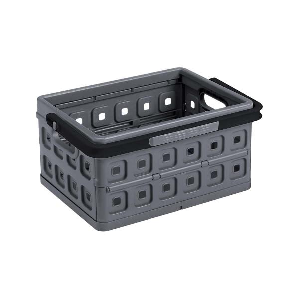 Square Faltbox 24L anthrazit / mit Griff schwarz