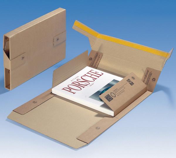 Buchverpackung 365x325x60 mm. SK-Verschluss, VE 10