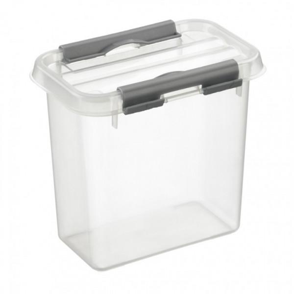 Q-line Box 1,1L, transparent/metallic, 100x150x147 mm