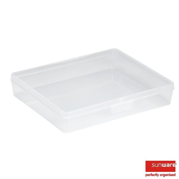 Q-line Organizer, Sortimentskasten 3,6L transparent, leer, 295 x 245 x 53 mm