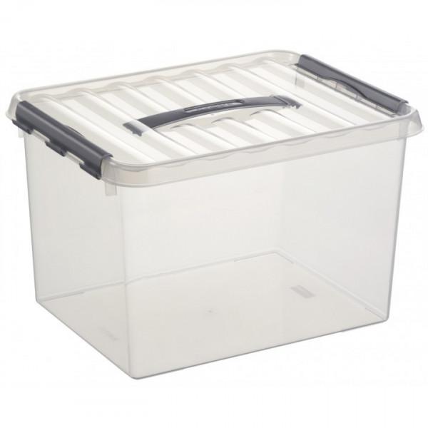 Q-line Box 22 L, transp/metallic, 400 x 300 x 260 mm