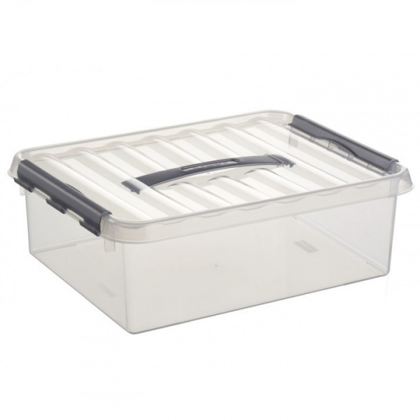 Q-line Box 10L mit Tragegriff, transp/metallf.