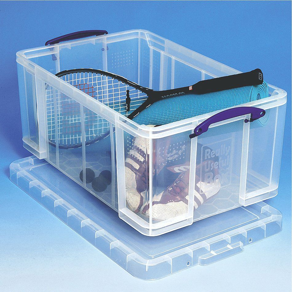 really useful box 64 liter inkl deckel transparent online shop clickbox boxen aus kunststoff. Black Bedroom Furniture Sets. Home Design Ideas