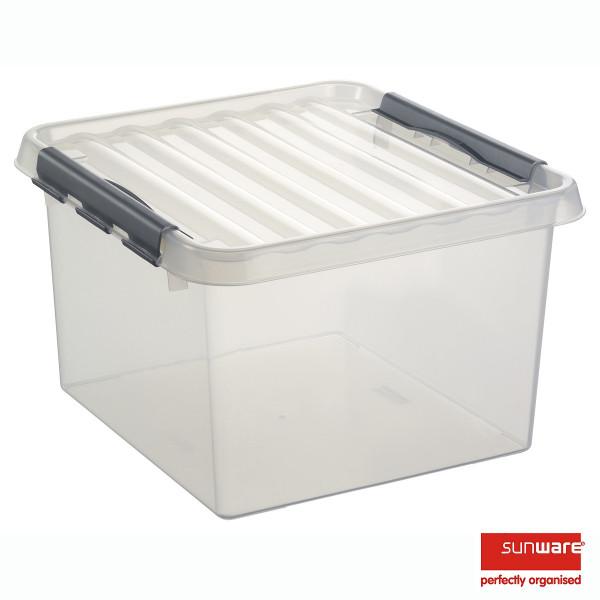 Q-line Quadratische Box 26L, transp/metallic