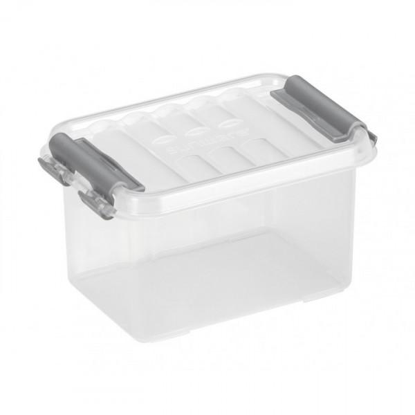 Q-line Box 0,4L, transp/metallf., 118x77x62 mm