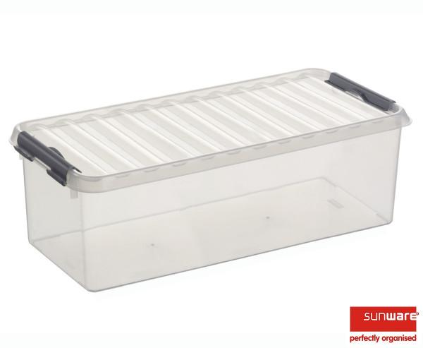 Q-line Box 9,5L, transparent/metallic, 485x190x147 mm