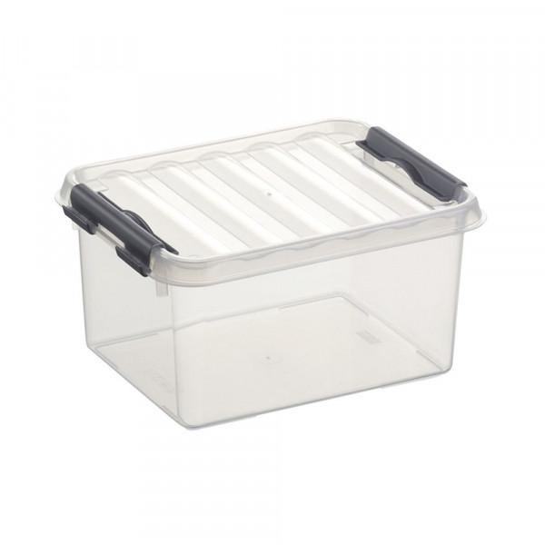 Q-line 2L Box, transp/metallic, 200 x150 x104 mm