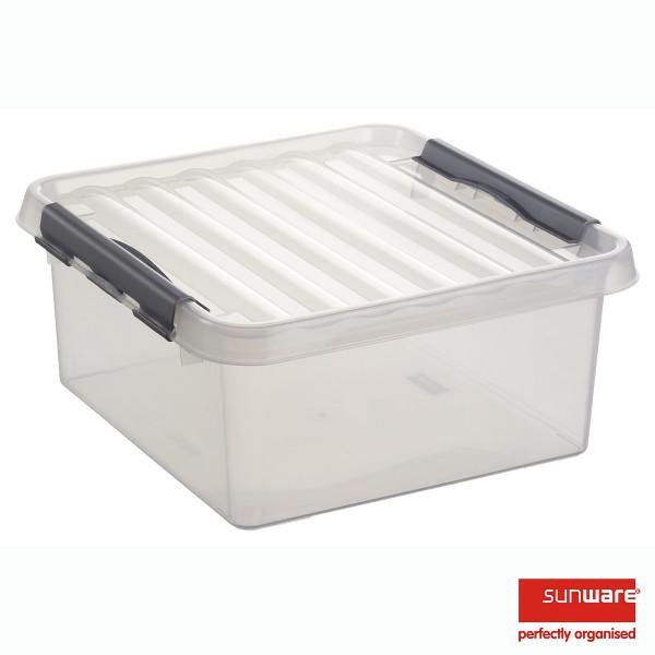 Q-line Quadratische Box 18L, transp/metallic