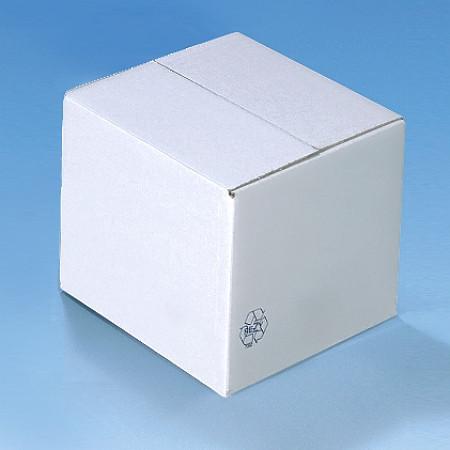 Wellpapp-Faltbox weiß 260x250x230 mm doppelwellige Qualität