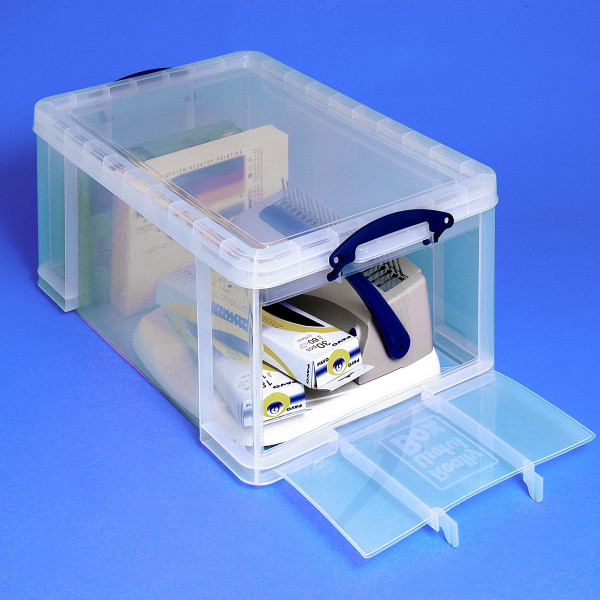 Really Useful Box 64 Liter Open Front, transparent, inkl. Deckel