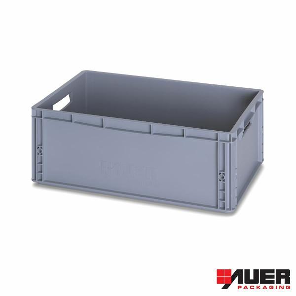 Eurobox von AUER, grau, 60 x 40 x 22 cm
