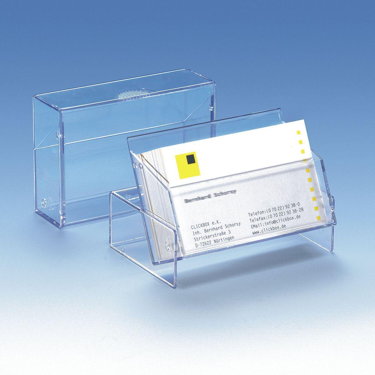 visitenkartenbox gro online shop clickbox boxen aus kunststoff. Black Bedroom Furniture Sets. Home Design Ideas
