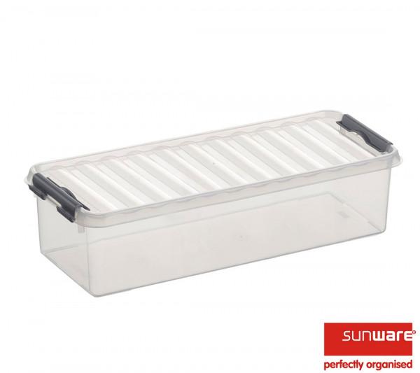 Q-line Box 3,5L, transparent/metallic, 388x142x92 mm