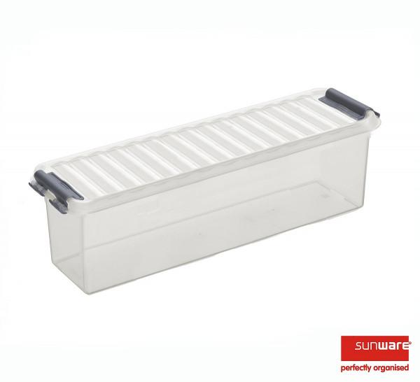 Q-line Box 1,3L, transparant/metallic, 270x84x90 mm