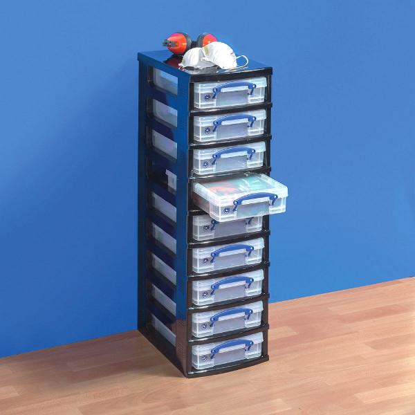 Single Tower 9 x 4-Liter-Box, Gestell schwarz