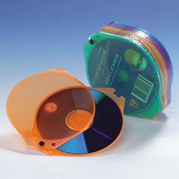 Media Pack CD Clickbox, farbig sortiert