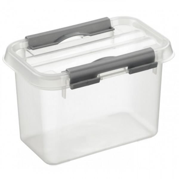 Q-line Box 0,8L, transparent/metallic, 100x150x108 mm