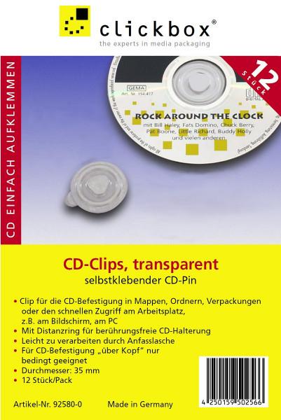 CD Clips transparent VE: 12
