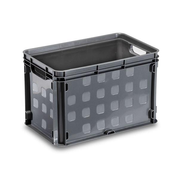 Stapelbox grau, von SUNWARE, 26 Liter