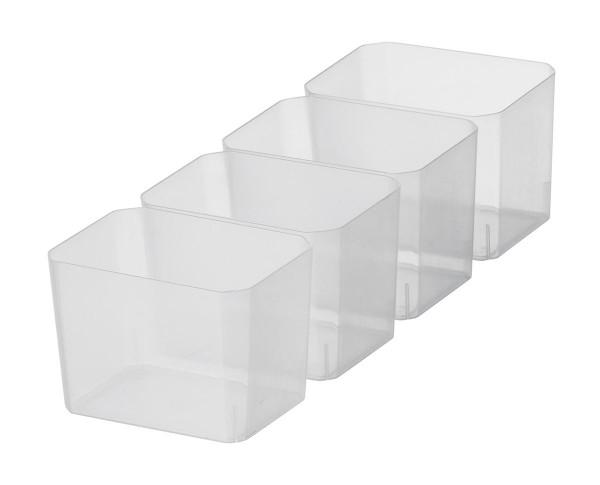 Set mit 4 Einsätzen für SmartStore Box 4, transparent