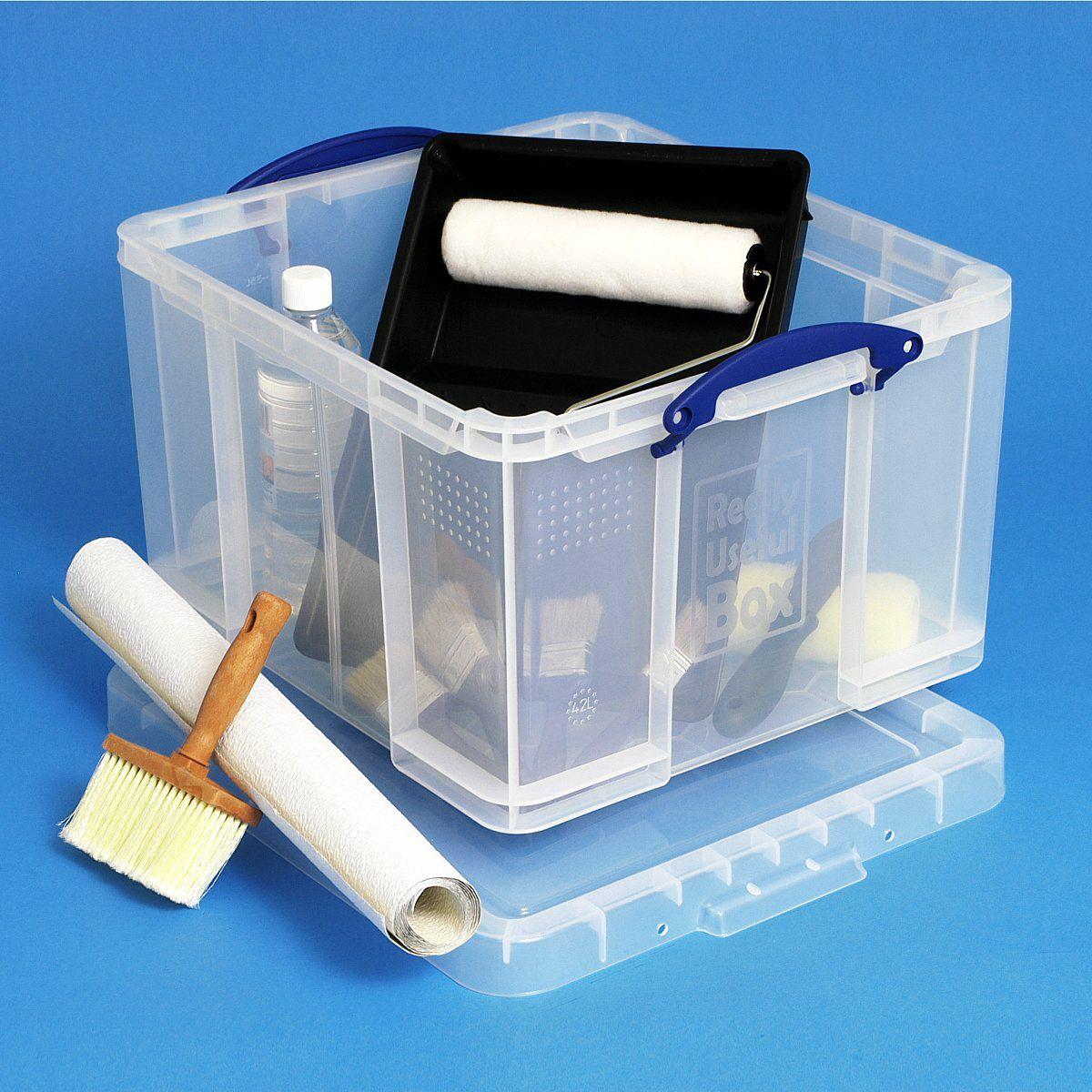 really useful box 42 liter aufbewahrungsbox mit deckel clickbox world of boxes. Black Bedroom Furniture Sets. Home Design Ideas