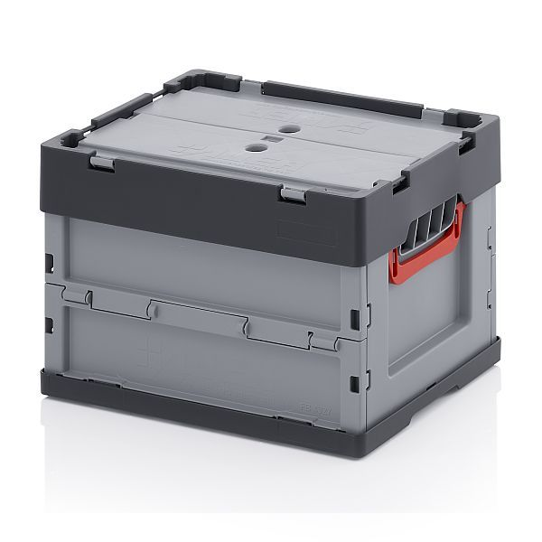 auer faltbox mit deckel 40 x 30 x 27 cm 24 liter online shop clickbox boxen aus kunststoff. Black Bedroom Furniture Sets. Home Design Ideas