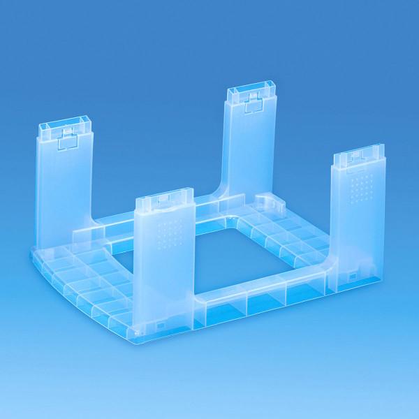 Gestell transparent - Bauteil der Storage Towers - 12 Liter Schubladen oder 9 Liter Boxen