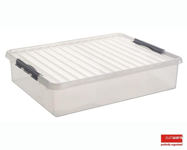 Q-line Bettbox 60L, transp/metallic, 800x500x180 mm