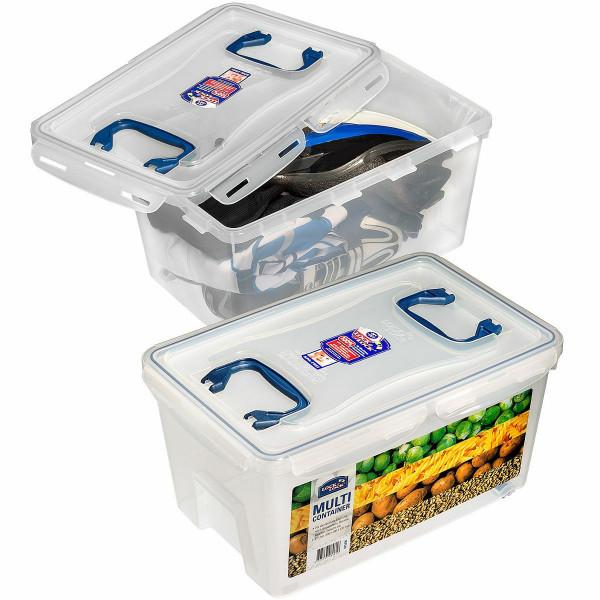 Wasserdichte Box von LocknLock mit 21 Liter Volumen und Inhalt