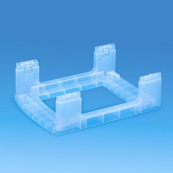 Gestell transparent - Bauteil der Storage Towers - 7 Liter Schubladen oder 4 Liter Boxen