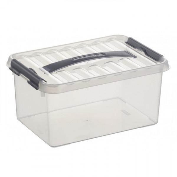 Q-line Box 6L, transparent/metallic, 307 x 200 x 143 mm