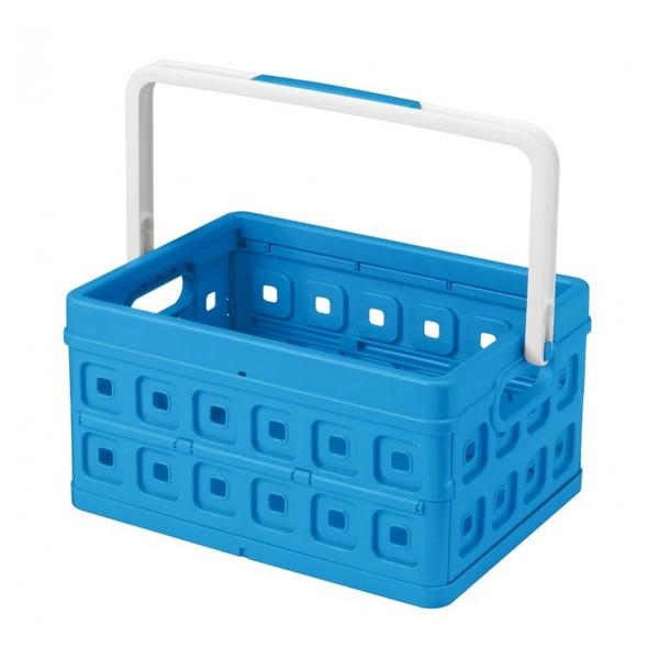Square Faltbox 24L blau / mit weissem Griff