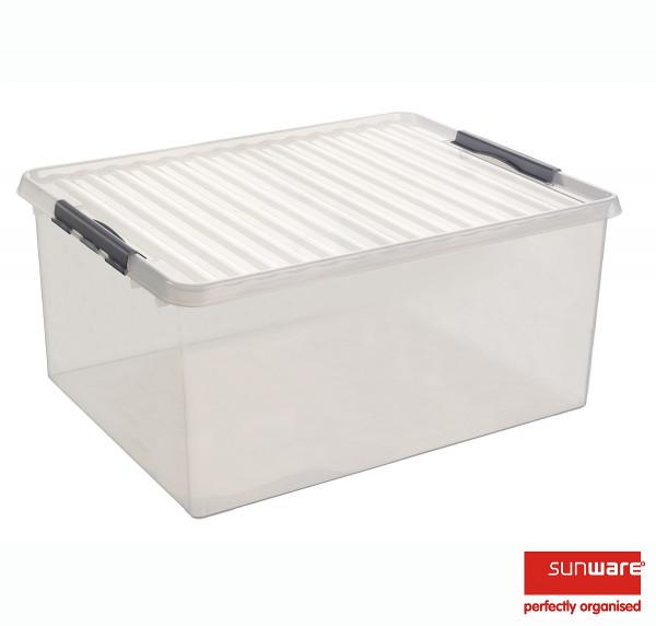 Q-line Box 120L, transparent/metallic, 800x500x380 mm