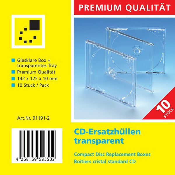 cd ersatzh llen transparent 10er pack clickbox world of boxes aufbewahrungsboxen aus. Black Bedroom Furniture Sets. Home Design Ideas