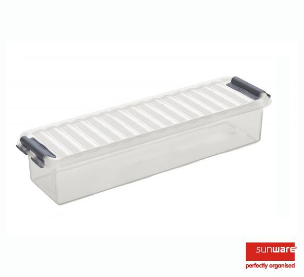 Q-line Box 0,9L, transparent/metallic, 270x86x60 mm