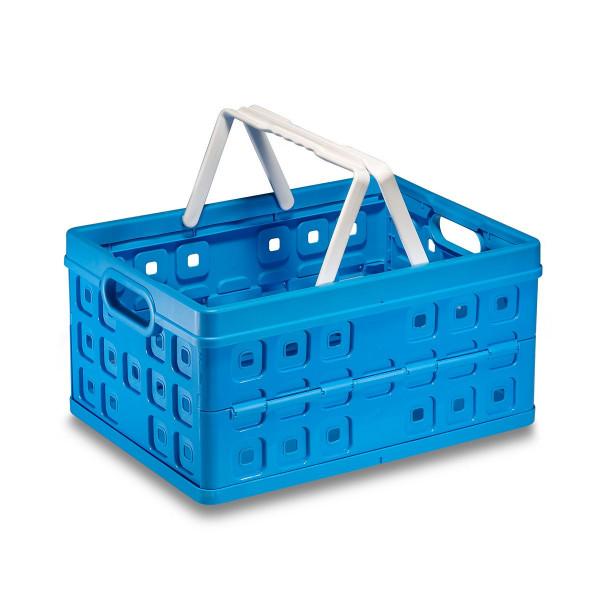 Square Faltbox 32L mit Henkelgriff in blau