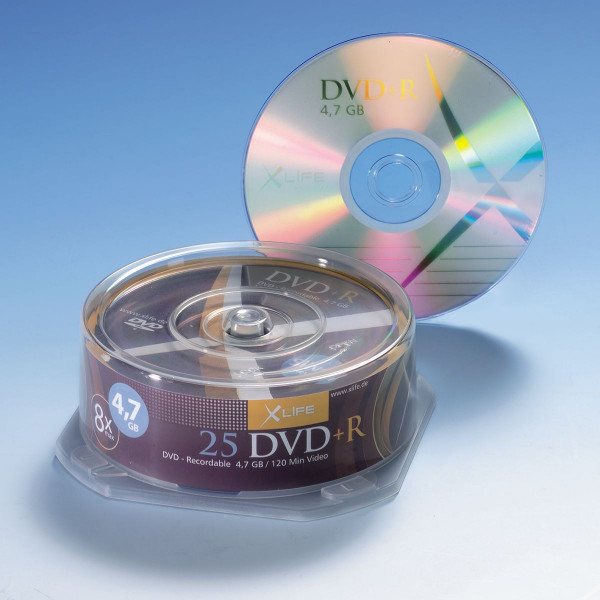 X-LAYER DVD+R 4,7 GB, 25er Cakebox