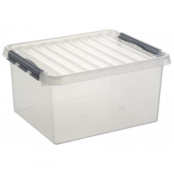 Q-line Box 36 L, transp/metallic, 500 x 400 x 260 mm